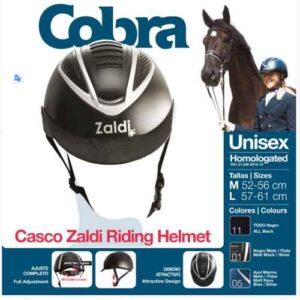 Casco Montar Cobra Rck6201 Negro/plata M (52-56)